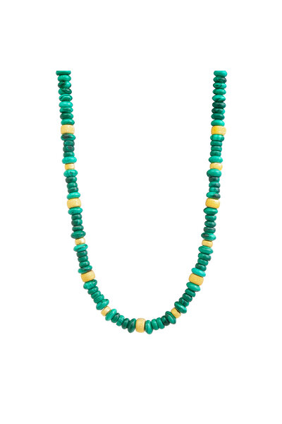 Choker Beads Malaquita