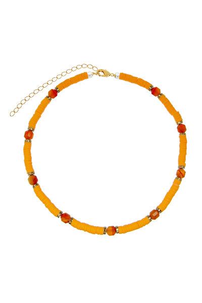 Colar Beads com Ágatas Coral