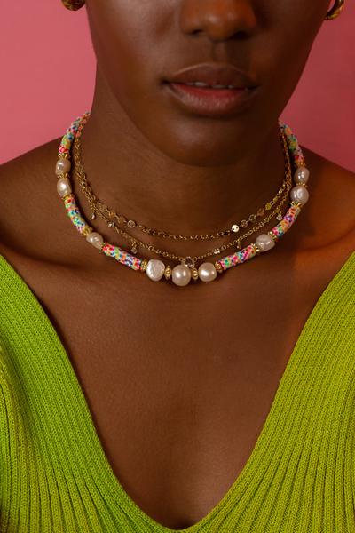 Colar Beads Pérolas