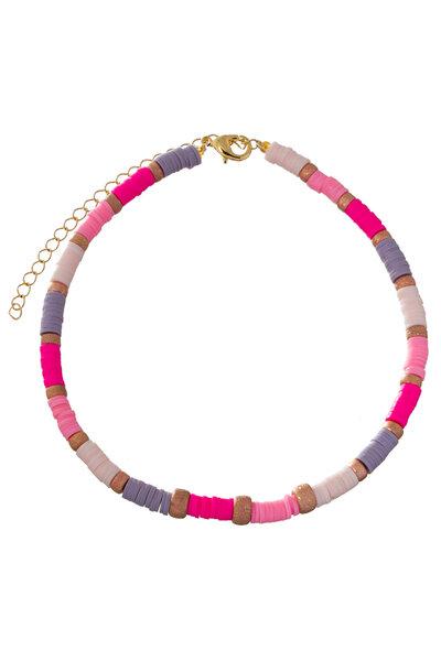 Colar Beads Rosé Tons Rosados