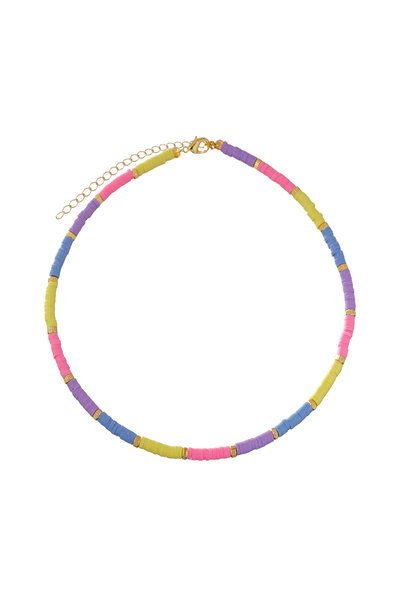 Colar Beads Rainbow Candy Colors