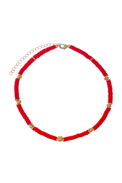 Colar Beads Coral