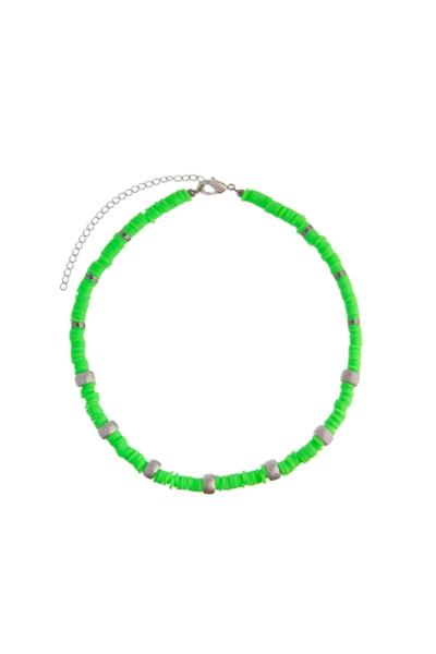 Colar Beads Lime