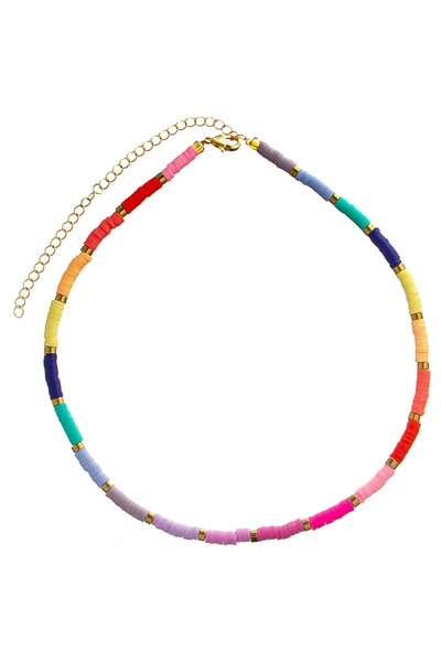 Colar Beads Rainbow