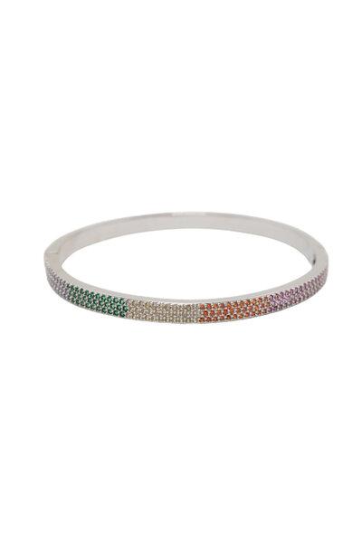 Bracelete Rainbow Cravejado