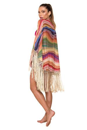 Kimono de Franjas Maverick Estampado