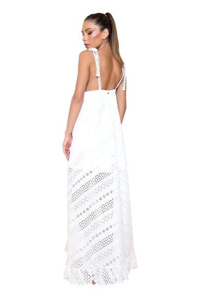 Vestido Longo Eliza Branco