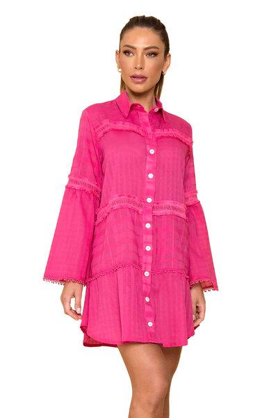 Vestido Chemise Smoke Pink