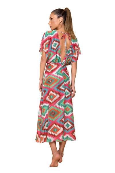 Vestido Midi Cassidy Estampado Blanket