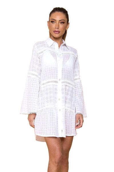 Vestido Chemise Smoke Branco