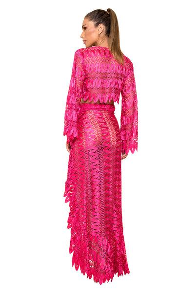 Saia de Renda Exotic Pink