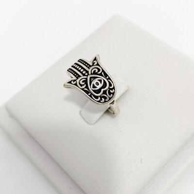 Anel Mão de Fátima - Prata 925