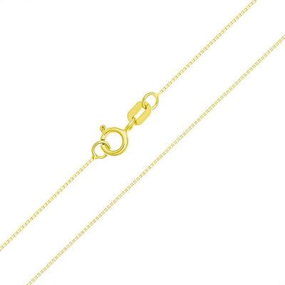 Corrente Veneziana 45cm Ouro Maciço 18k