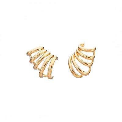 Brinco Piercing Fake Liso - Ouro 18k