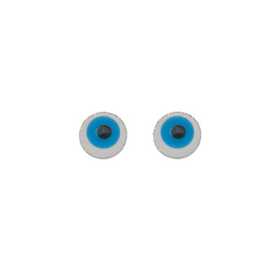 Brinquinho Olho Grego PP - Ródio Branco