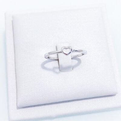 Anel Coração Pequeno - Ródio Branco