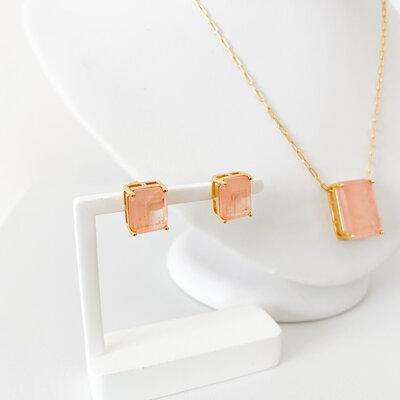 Conjunto Pedra Fusion Premium Corrente Cartier - Banho Ouro 18K