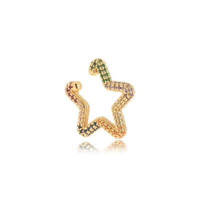 Piercing Fake Estrela Colors - Banho Ouro 18k