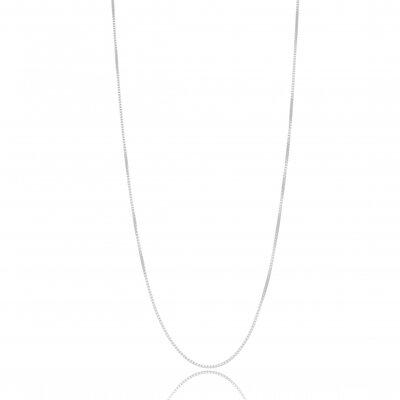 Corrente Veneziana 40cm e 5cm extensor - Banho Ródio Branco