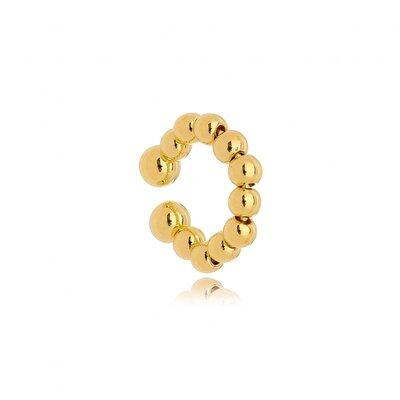 Brinco Piercing Fake Bolinhas - Ouro 18K