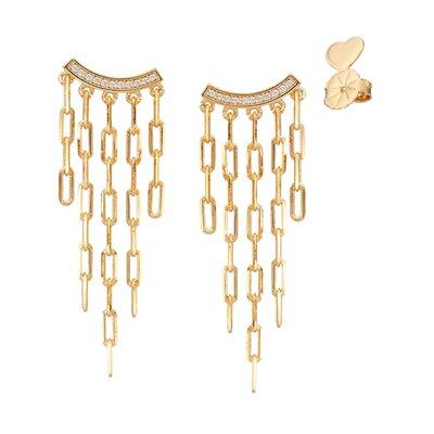 Brinco Cartier Cravejado - Banho Ouro 18k