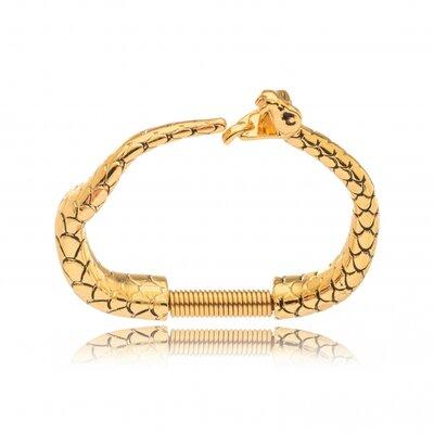 Bracelete Serpente Detalhado - Ouro 18k