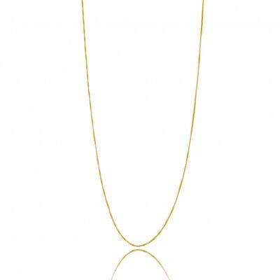 Corrente Veneziana 45cm e 5cm extensor - Banho Ouro 18k
