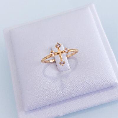 Anel Cruz - Ouro 18k