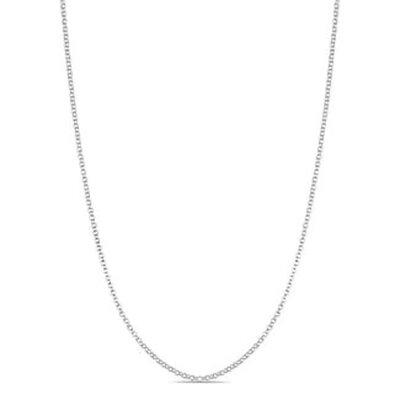 Corrente Elo Português Duplo 45cm - Banho Ródio Branco