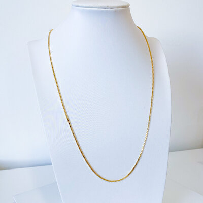 Colar Longo Corrente Veneziana 60cm - Banho Ouro 18k