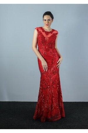 Vestido longo sereia todo bordado