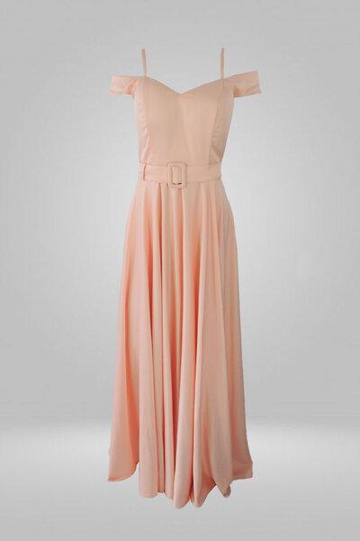 Vestido rodado com alça e cinto