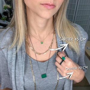 Colar Corrente e Choker Cartier Ouro 45 cm - Elo 1 cm