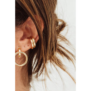 Brinco Piercing Tubo Bia Ouro 1,7 cm