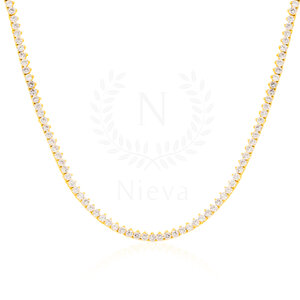 Colar Riviera Clássico Ouro (Prata 925)