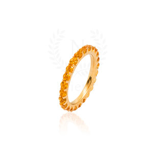 Aliança Sarah Citrino Ouro (Prata 925)