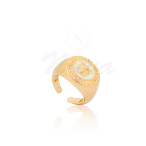 Anel Medusa White Ouro