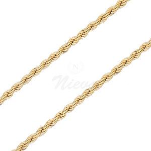 Corrente Corda Italiana Ouro - 50 cm / 70 cm / 80 cm