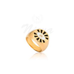 Anel Dedinho Grécia Ouro (Escolha a cor)