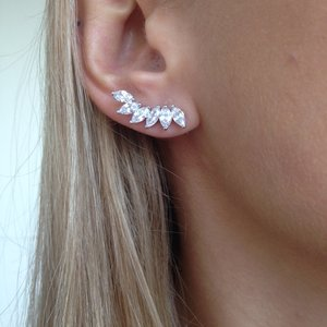 Brinco Ear Cuff Princess Ródio