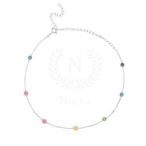 Choker Tiffany Rainbow Prata 925