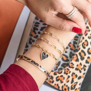 Pulseira Bracelete Animal Print Ouro
