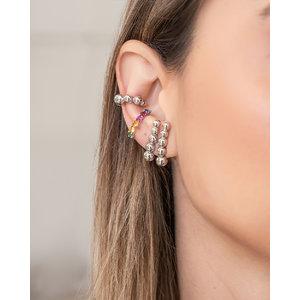 Brinco Ear Hook Bolinhas Ródio