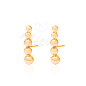 Brinco Ear Hook Bolinhas Ouro