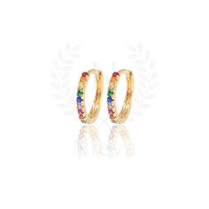 Argolas Lila Rainbow Ouro (Escolha o seu tamanho)