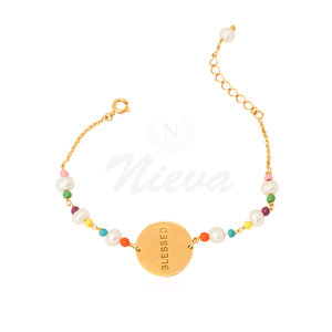 Pulseira Blessed Rainbow Ouro