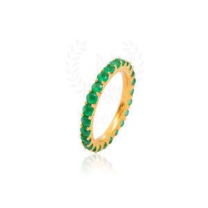 Aliança Sarah Esmeralda Ouro (Prata 925)
