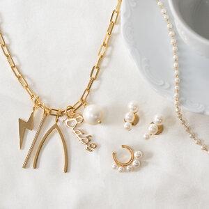 Colar Longo Style Pingentes Ouro