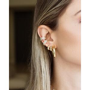 Brinco Piercing Sarah White Ouro (Prata 925)