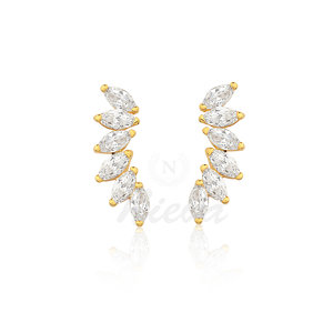 Brinco Ear Cuff Princess Ouro